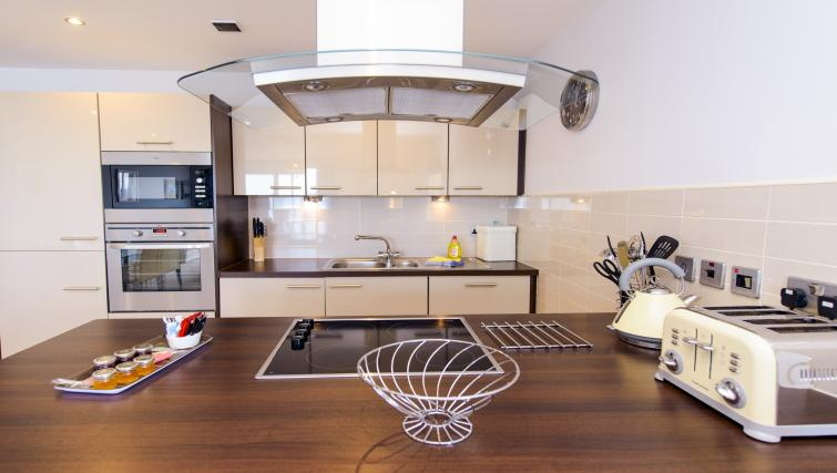 Kitchen facilities at the The Sands Sea Front Apartments - Citybase Apartments
