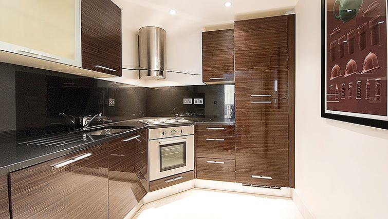 Fully equipped kitchen at 20 Hertford Street Apartments - Citybase Apartments