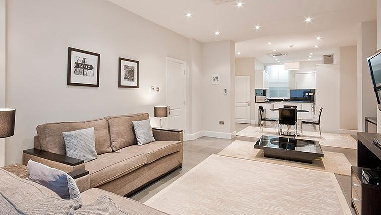 Simple living area at 20 Hertford Street Apartments - Citybase Apartments