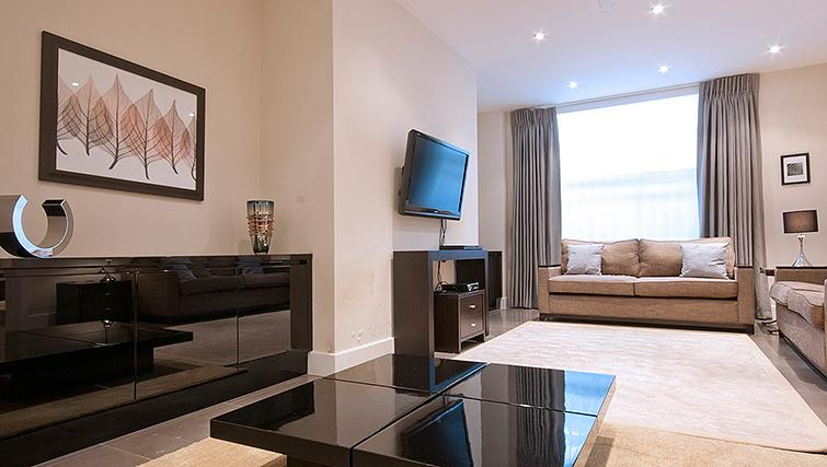 Modern living area at 20 Hertford Street Apartments - Citybase Apartments