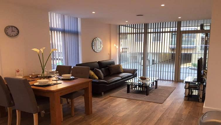 Living area at London Square Apartment - Citybase Apartments