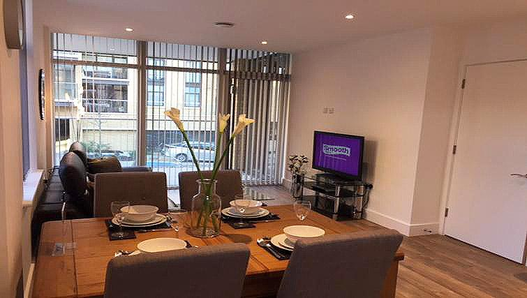 Dining area at London Square Apartment - Citybase Apartments