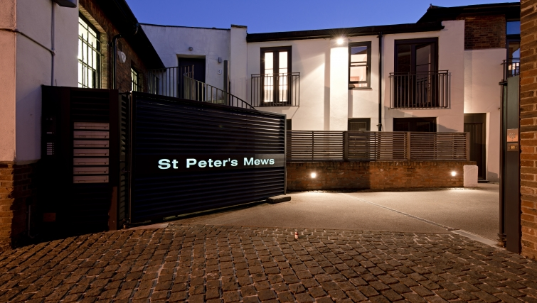 Modern exterior of St Peters Mews Apartments - Citybase Apartments