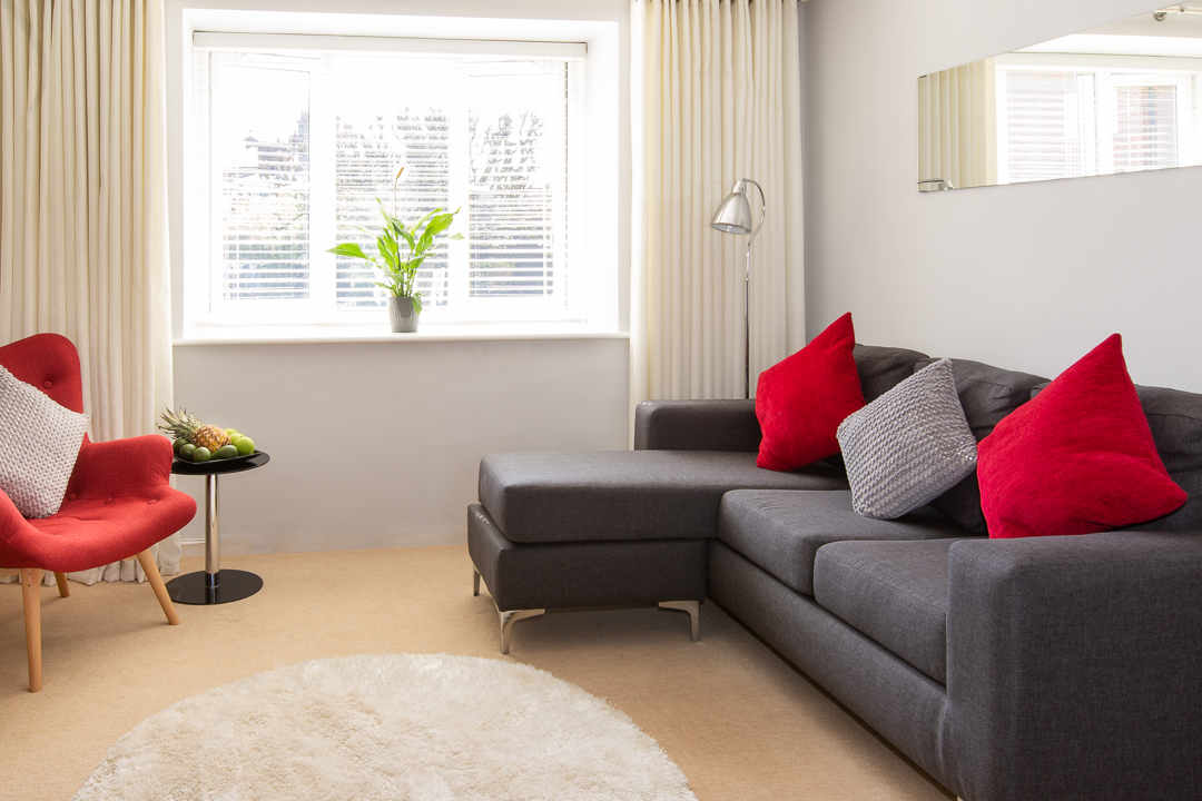 Living room at Christchurch Close Apartment - Citybase Apartments