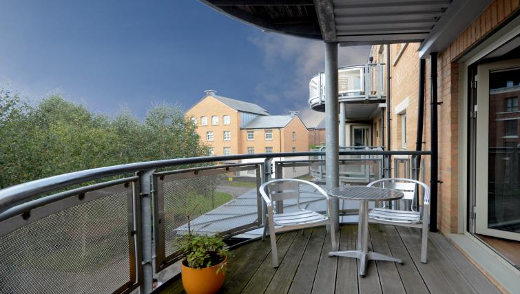Balcony at the Dixons Yard Apartment - Citybase Apartments
