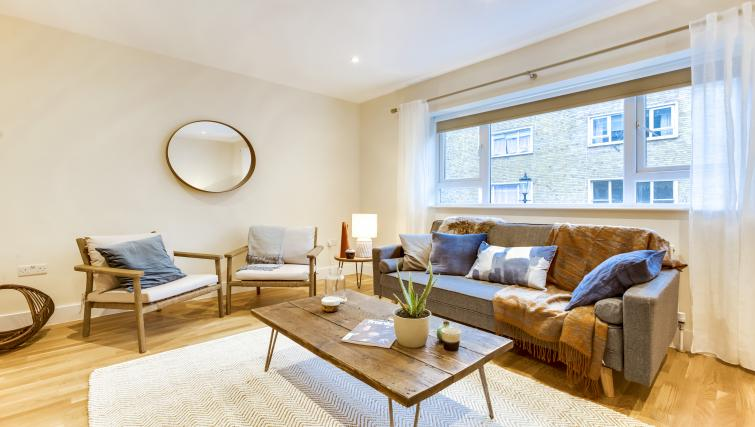 Living room at the South Kensington Bute Street Apartments - Citybase Apartments