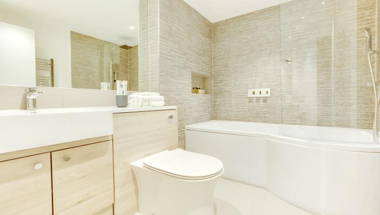 Stylish bathroom at the South Kensington Bute Street Apartments - Citybase Apartments