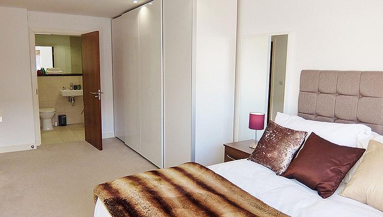 Bedroom furnishings at the Ruislip Apartments - Citybase Apartments