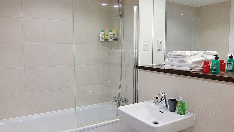 Bathroom facilities at the Ruislip Apartments - Citybase Apartments