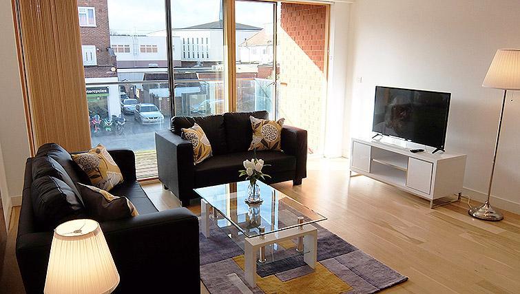 Living room at the Ruislip Apartments - Citybase Apartments