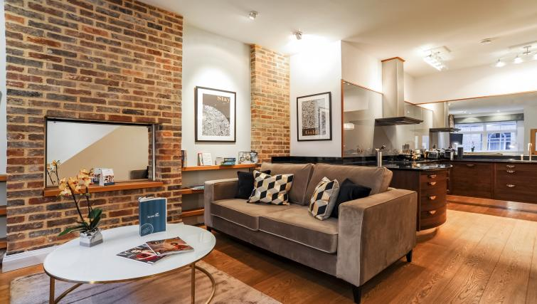 Living room at the Genesis in Kensington Apartment - Citybase Apartments