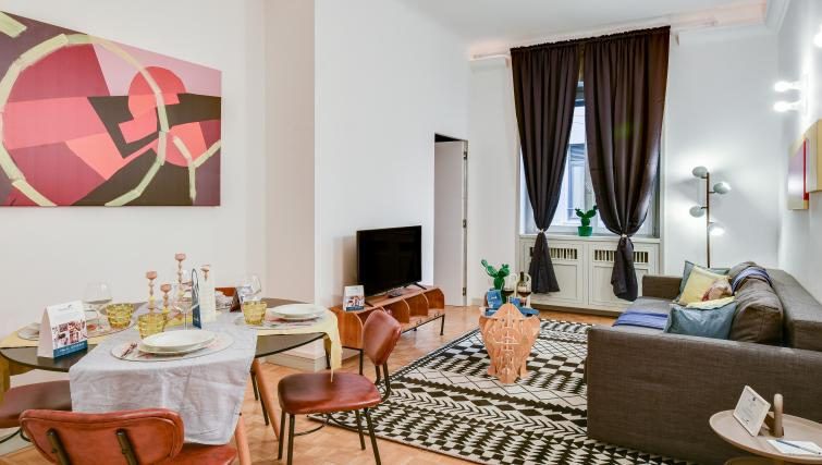 Living room at the Cerva Milano Apartment - Citybase Apartments