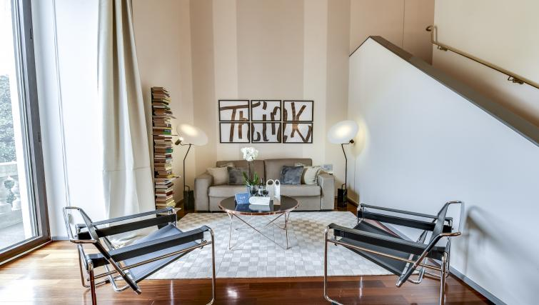Lounge at the Romagnosi Milan Apartments - Citybase Apartments