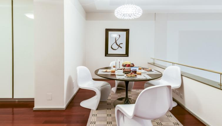 Dining area at the Romagnosi Milan Apartments - Citybase Apartments
