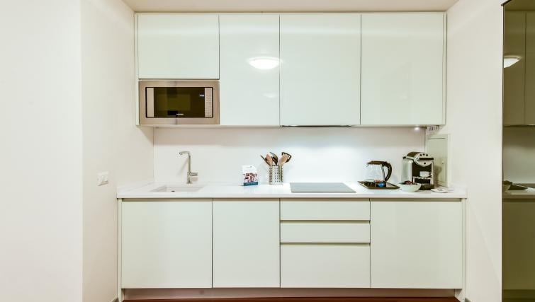 Kitchen at the Romagnosi Milan Apartments - Citybase Apartments