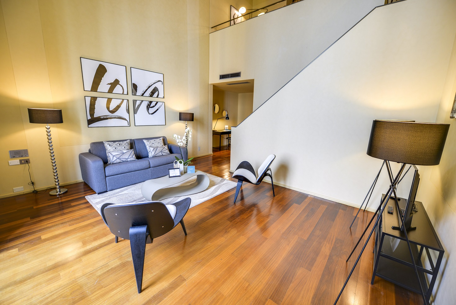 Spacious living area at  Romagnosi Milan Apartments - Citybase Apartments