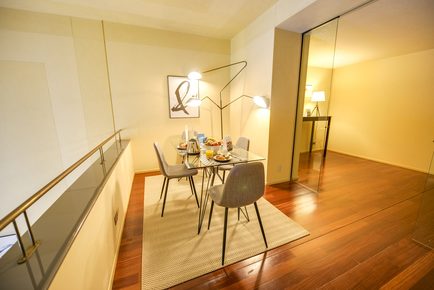 Dining area at  Romagnosi Milan Apartments - Citybase Apartments