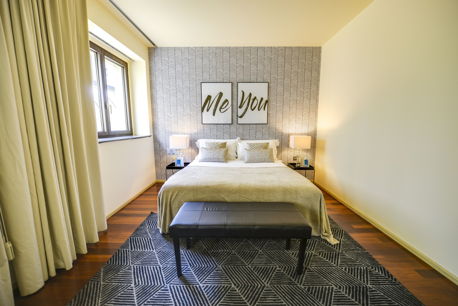 Double bed at  Romagnosi Milan Apartments - Citybase Apartments