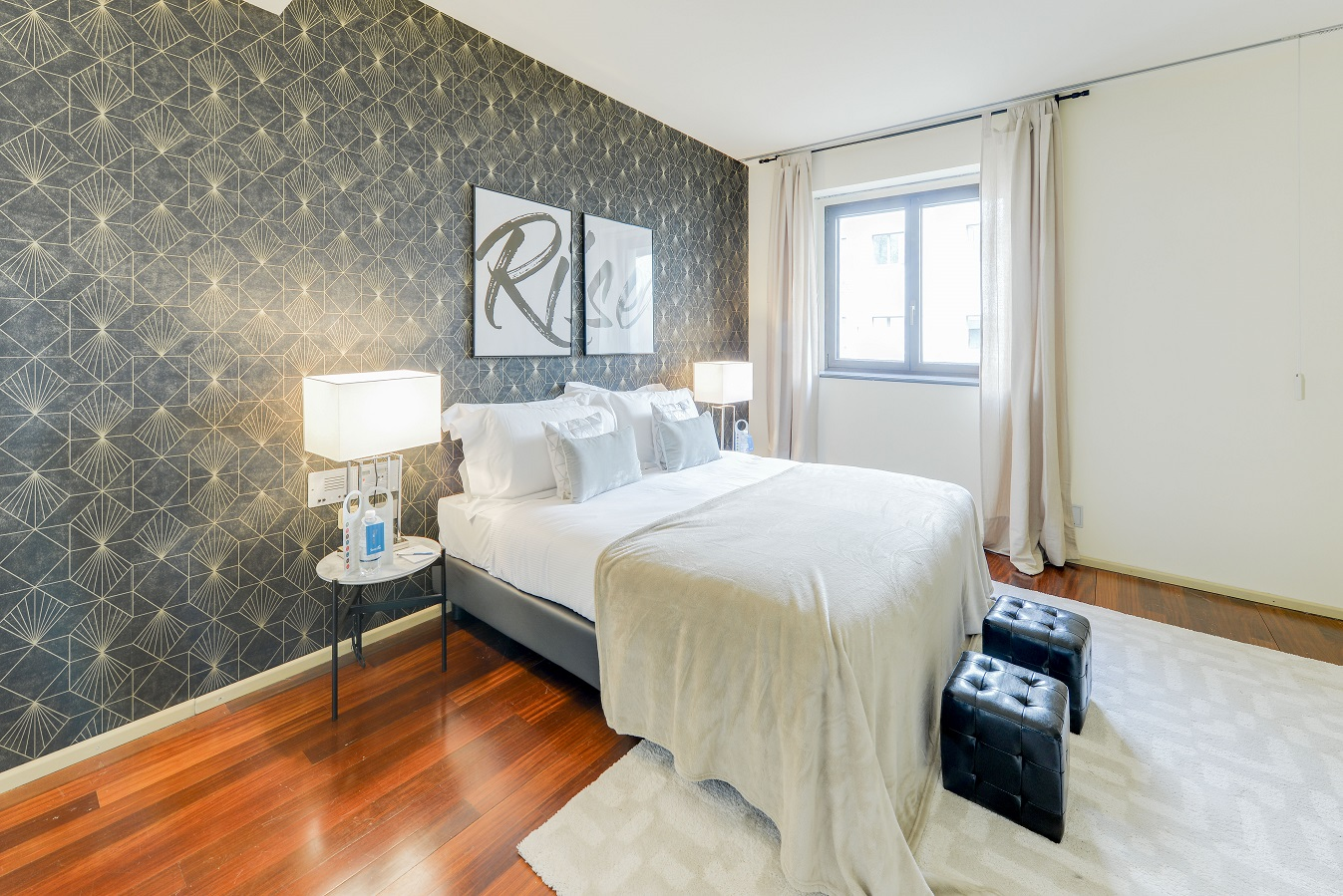 Modern bedroom at  Romagnosi Milan Apartments - Citybase Apartments