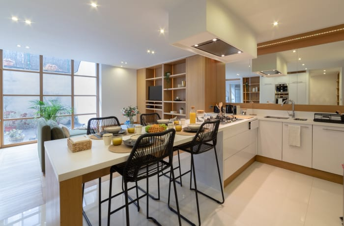Modern kitchen at Couronne Apartments - Citybase Apartments