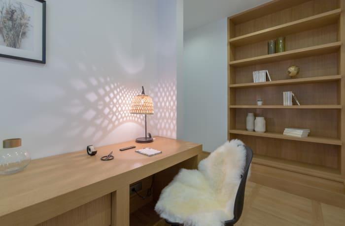 Desk area at Couronne Apartments - Citybase Apartments