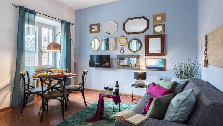 Living room at the Specchi Apartment - Citybase Apartments