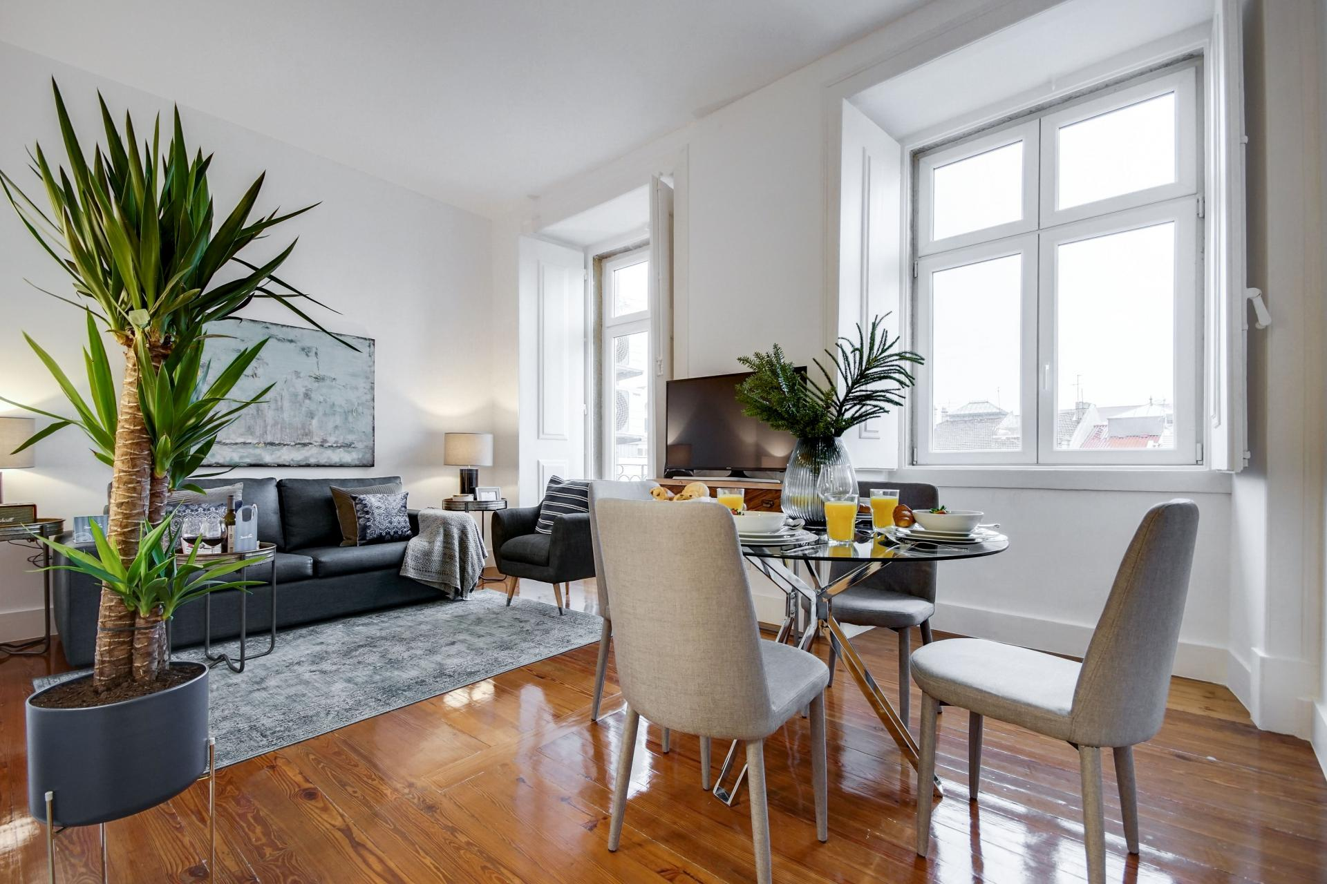 Bright living area at Emenda Deluxe Apartment - Citybase Apartments