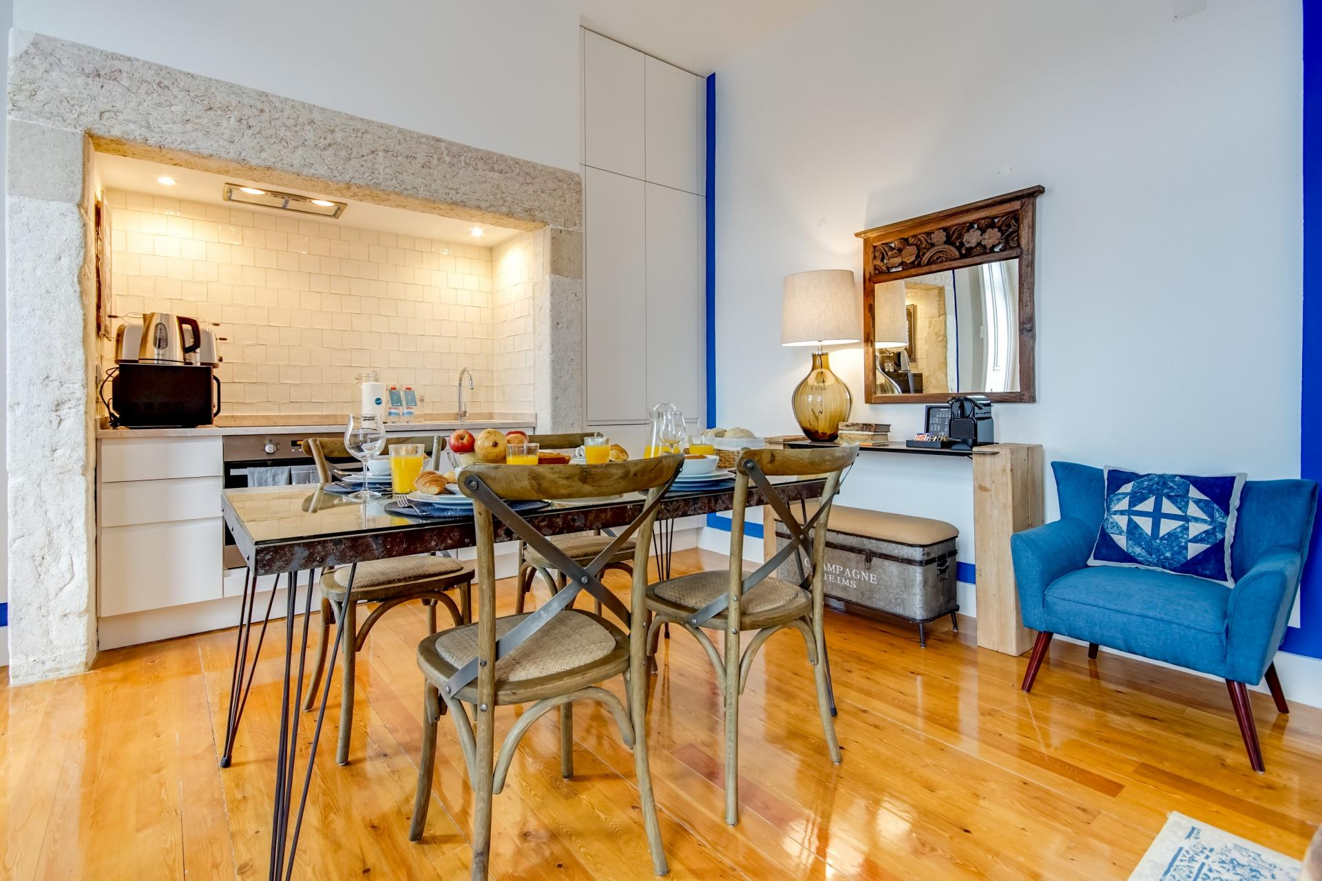Stylish kitchen at Emenda Deluxe Apartment - Citybase Apartments