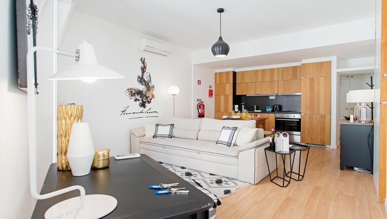 Living room at Gloria Apartments - Citybase Apartments