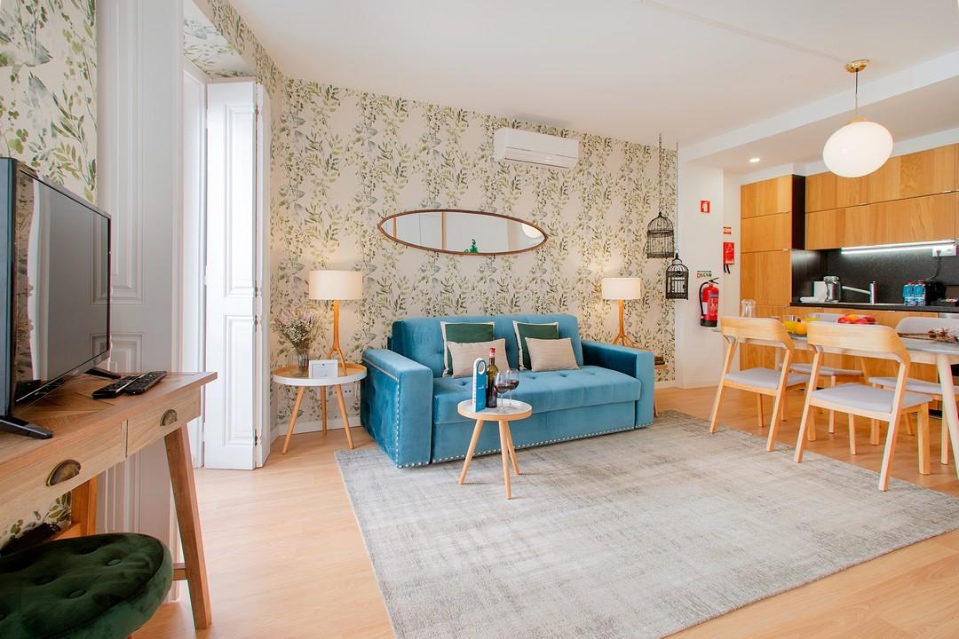 Sofa at Gloria Apartments - Citybase Apartments