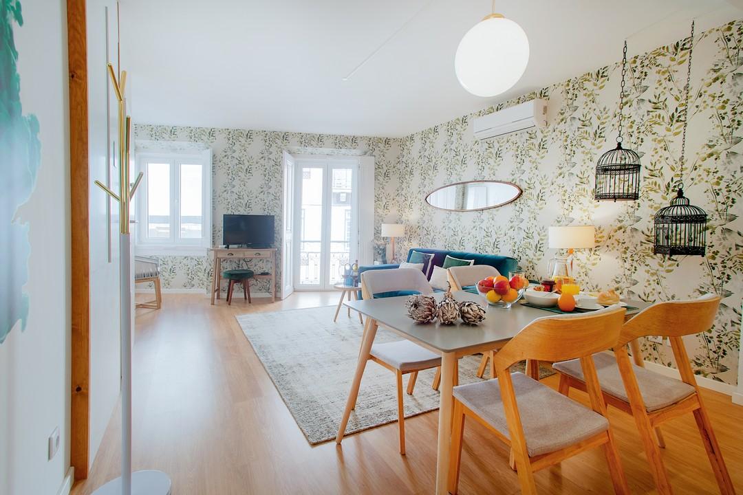 Open-plan living area at Gloria Apartments - Citybase Apartments