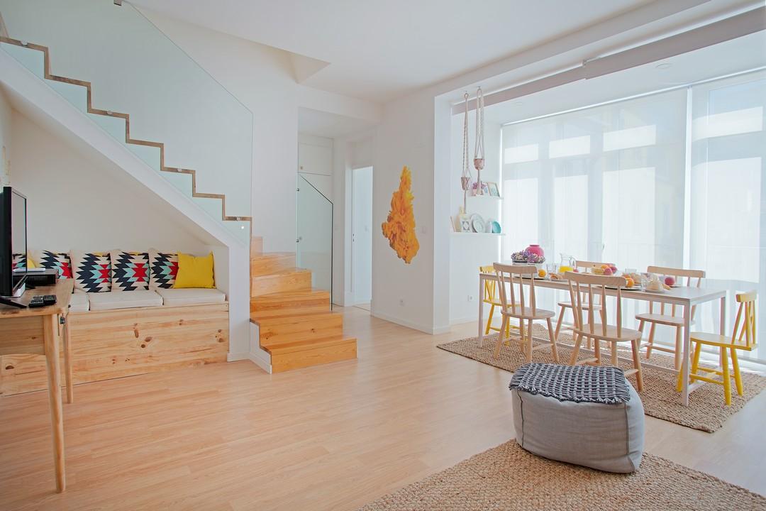 Modern lounge at Gloria Apartments - Citybase Apartments