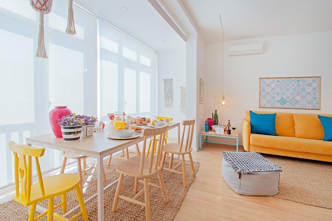 Seating area at Gloria Apartments - Citybase Apartments