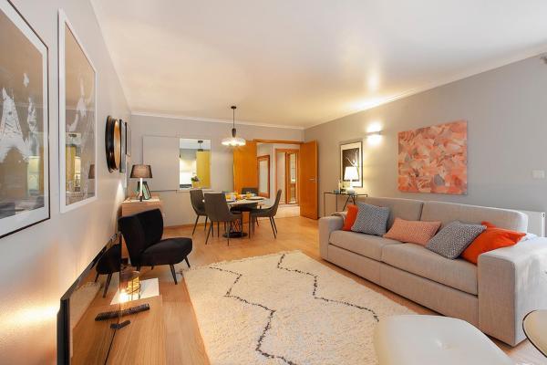Living room at Liberdade Executive Apartments - Citybase Apartments
