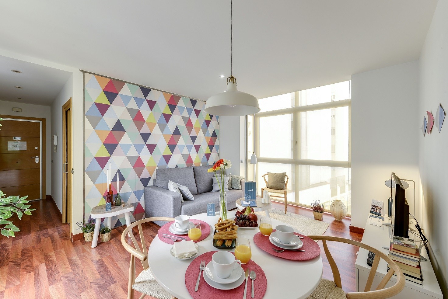 Dining area at  Don Pedro Apartments - Citybase Apartments