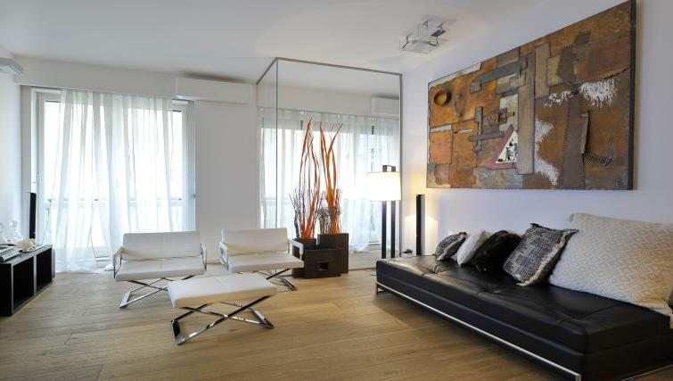 Living area at Foro Buonaparte Apartment - Citybase Apartments