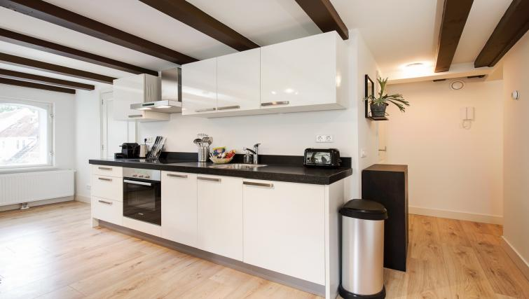 Kitchen at the Zwaansteeg Canal Garden Apartments - Citybase Apartments