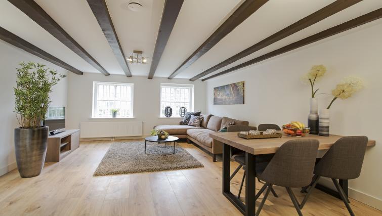 Sofas at the Zwaansteeg Canal Garden Apartments - Citybase Apartments