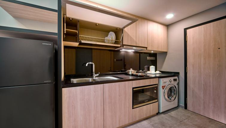 Kitchen at the Orchard Grand Court Serviced Apartments, Singapore - Citybase Apartments