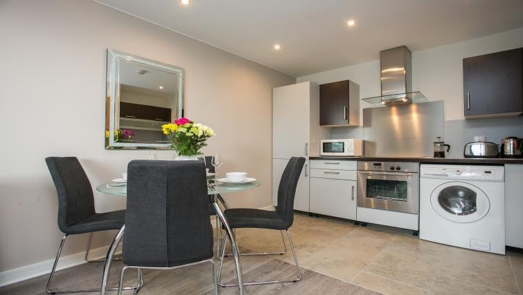 Dining area at the Grand Canal Apartments - Citybase Apartments