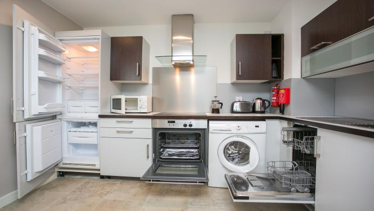 Kitchen at the Grand Canal Apartments - Citybase Apartments