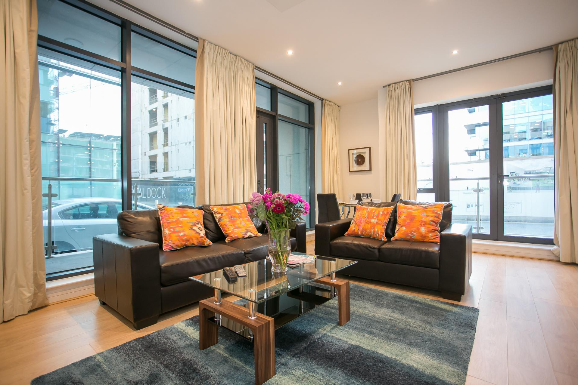 Lounge at the Grand Canal Apartments - Citybase Apartments