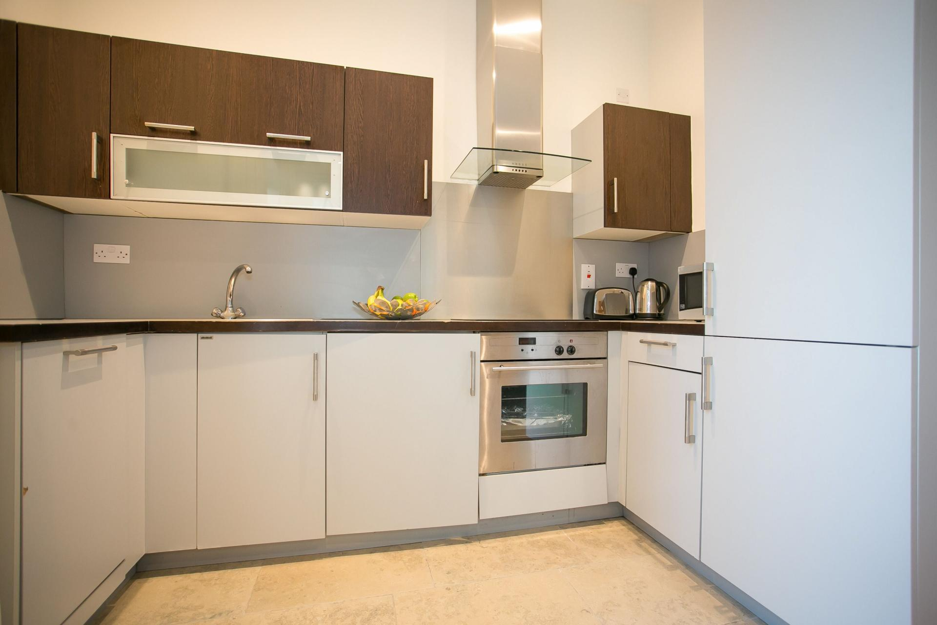 Modern kitchen at the Grand Canal Apartments - Citybase Apartments