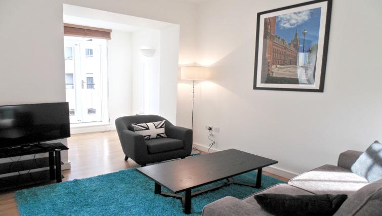 Living room at Still Life King's Cross Apartment - Citybase Apartments
