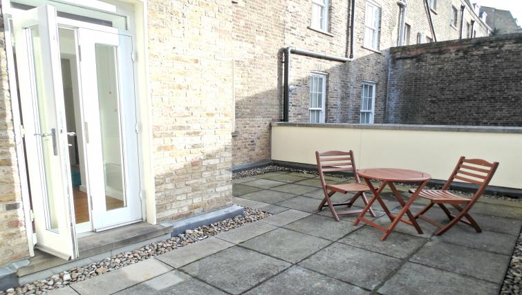 Terrace area at Still Life King's Cross Apartment - Citybase Apartments