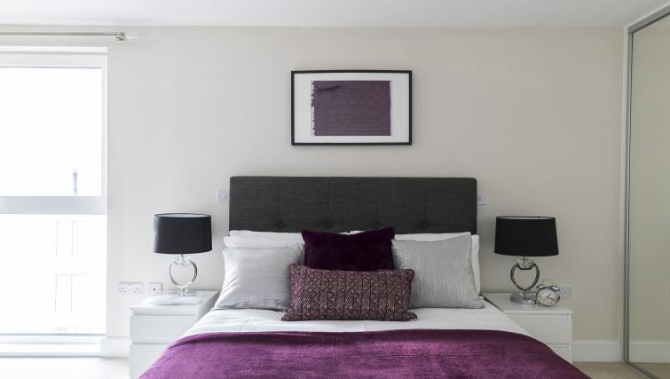 Bedroom decor at the Hammersmith Haven Apartment - Citybase Apartments