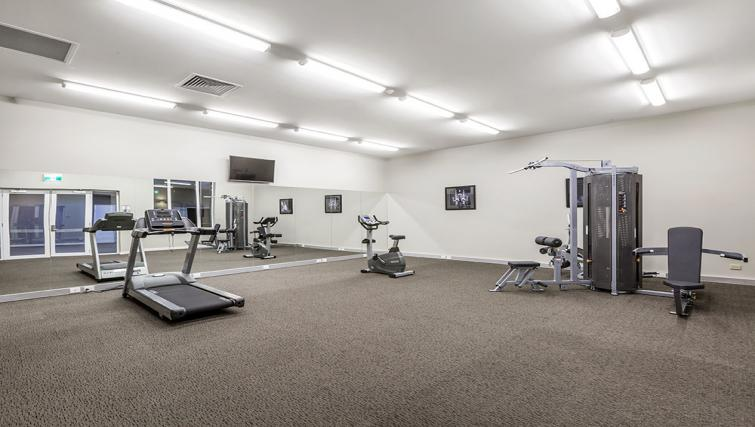 Gym at Quest Albury on Townsend Apartments - Citybase Apartments