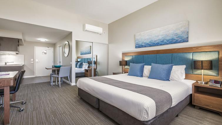 Bedroom at Quest Albury on Townsend Apartments - Citybase Apartments