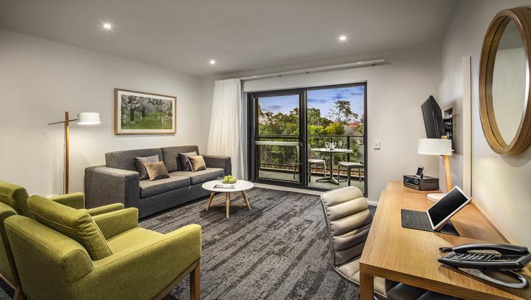 Living room at the Quest Bella Vista Apartments - Citybase Apartments