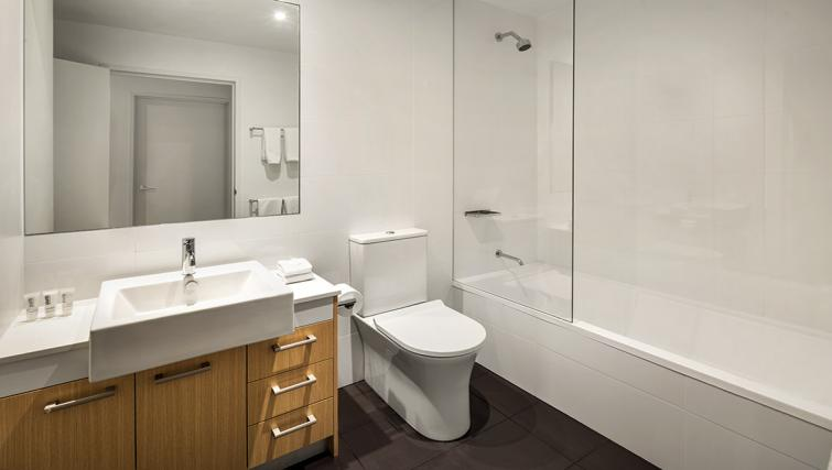 Bathroom at the Quest Bella Vista Apartments - Citybase Apartments